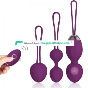 smart vibrating silicone waterproof kegel exercise ball  adult sex toys body massage for woman