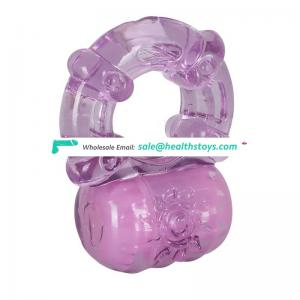 vibrating cock ring and jelly dildo vibrator - adult sex toys, big size boys gay cock ring
